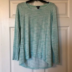 Champion long sleeve sweater Large heather teal